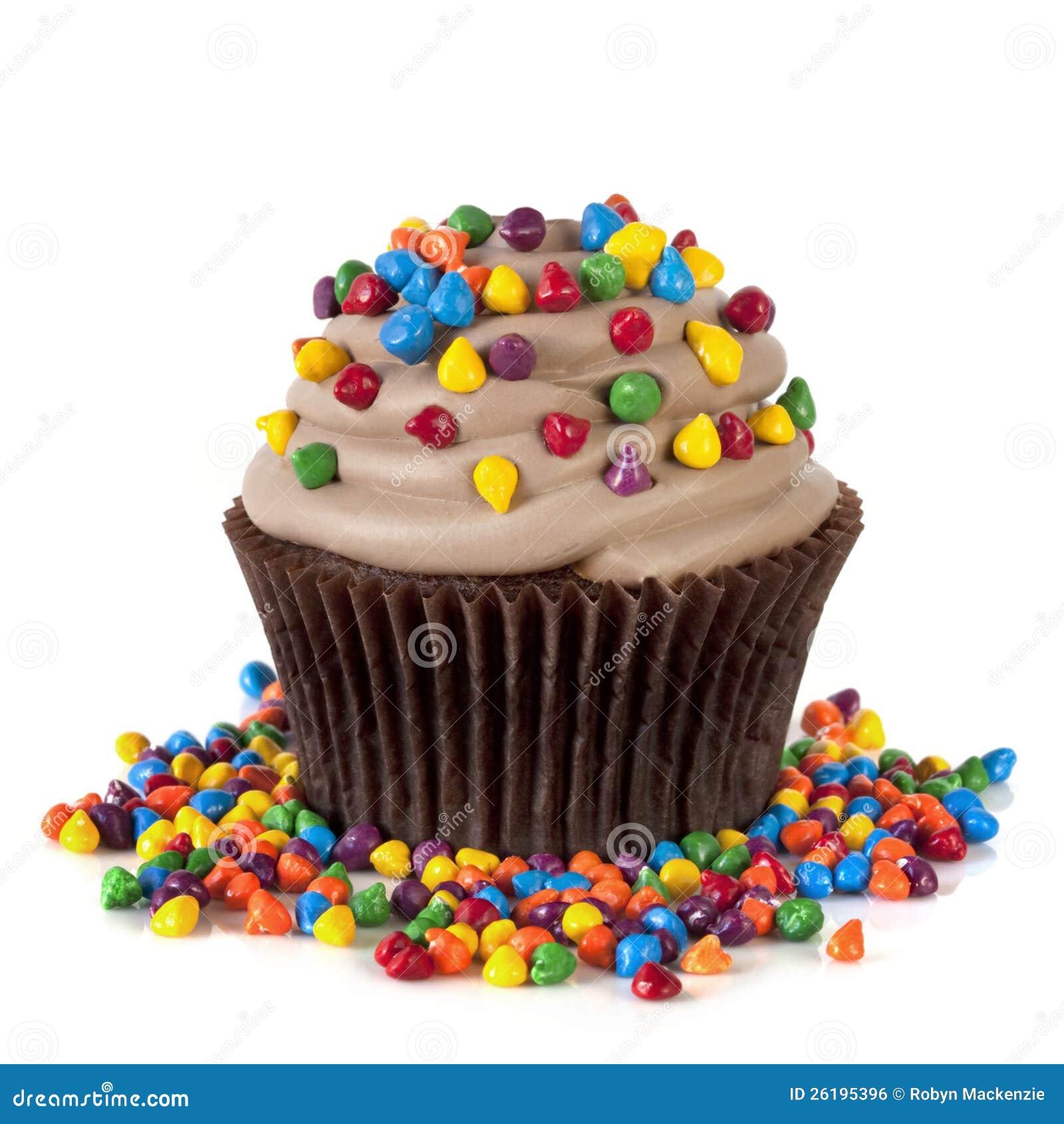 Η σοκολάτα Cupcake με ψεκάζει