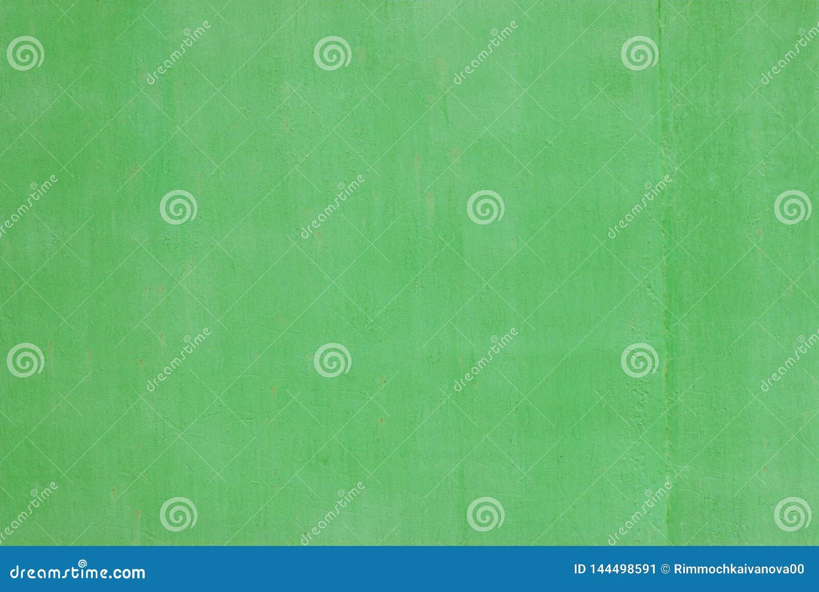 Η σύσταση της ζωγραφικής τοίχων στους όμορφους ανοικτό πράσινο τόνους Αυξημένος κοντά