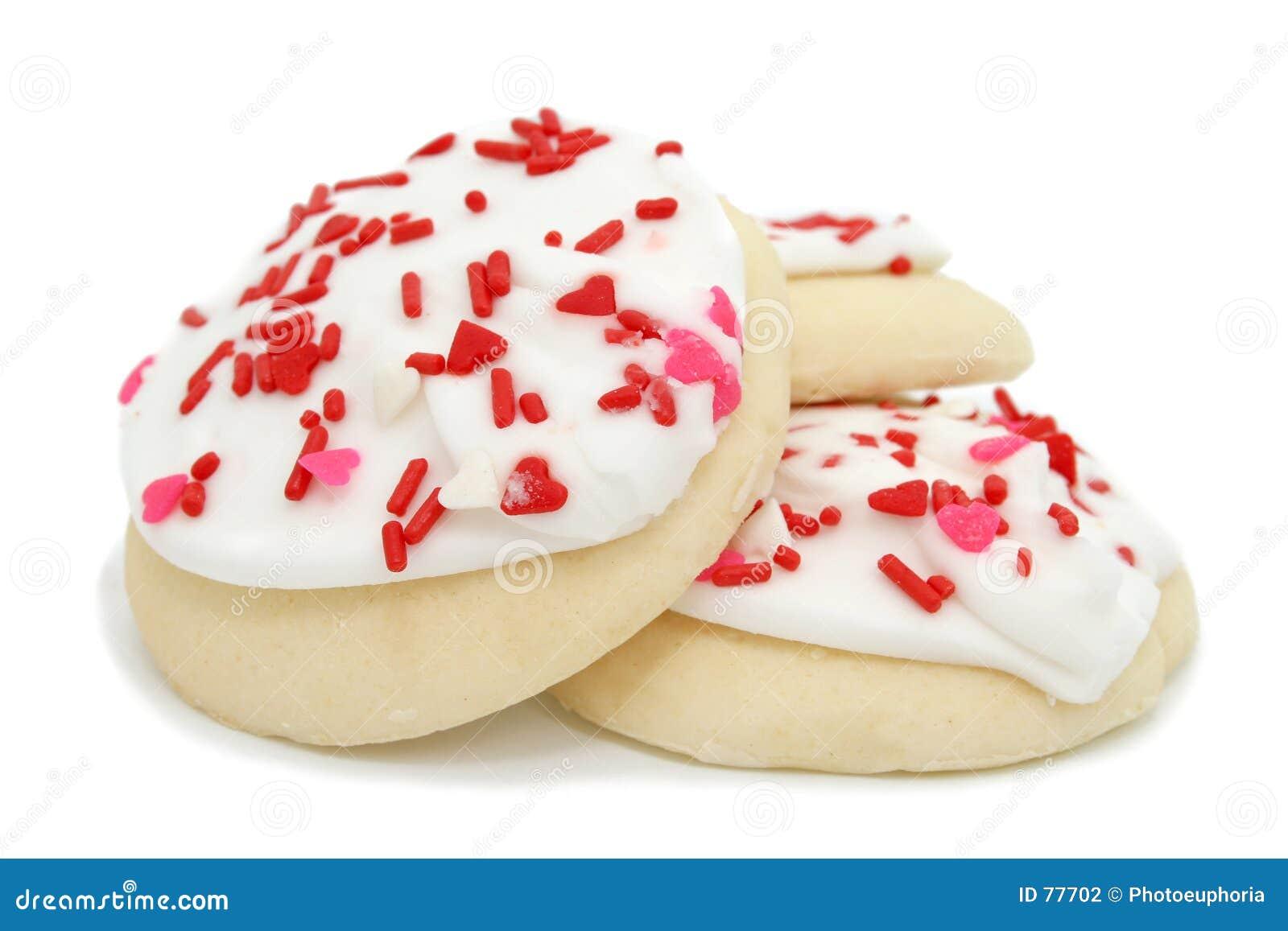 η τήξη καρδιών μπισκότων ψεκάζει το λευκό