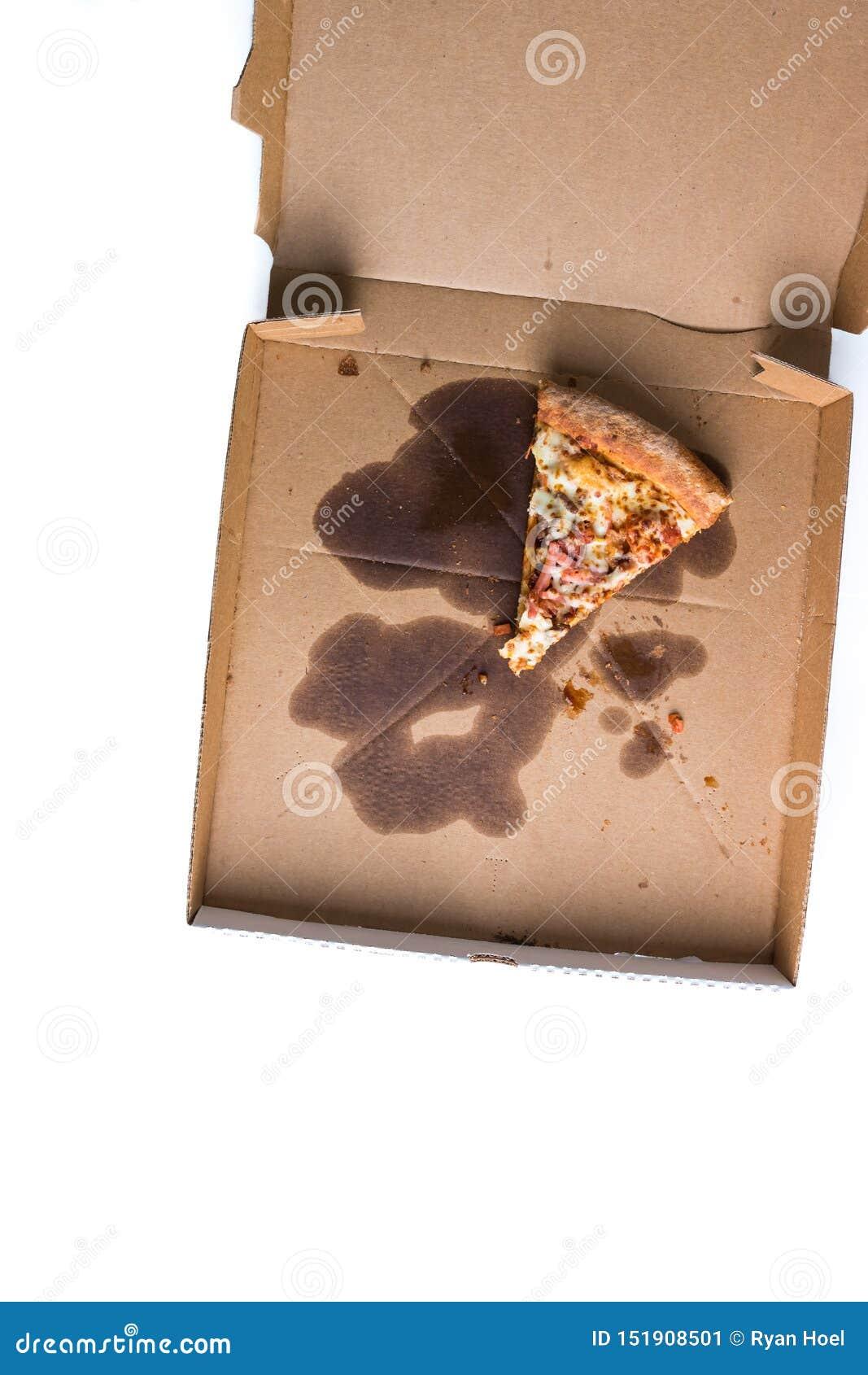 Η τελευταία φέτα της πίτσας στο κιβώτιο παράδοσης r
