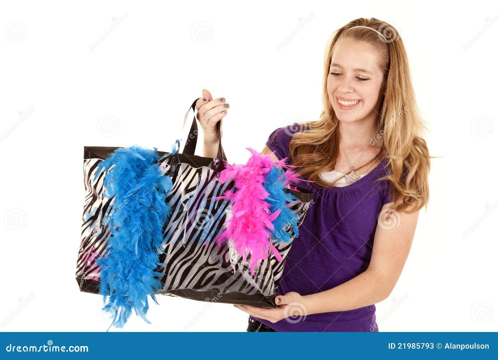 η τσάντα κάτω από το κορίτσι &phi