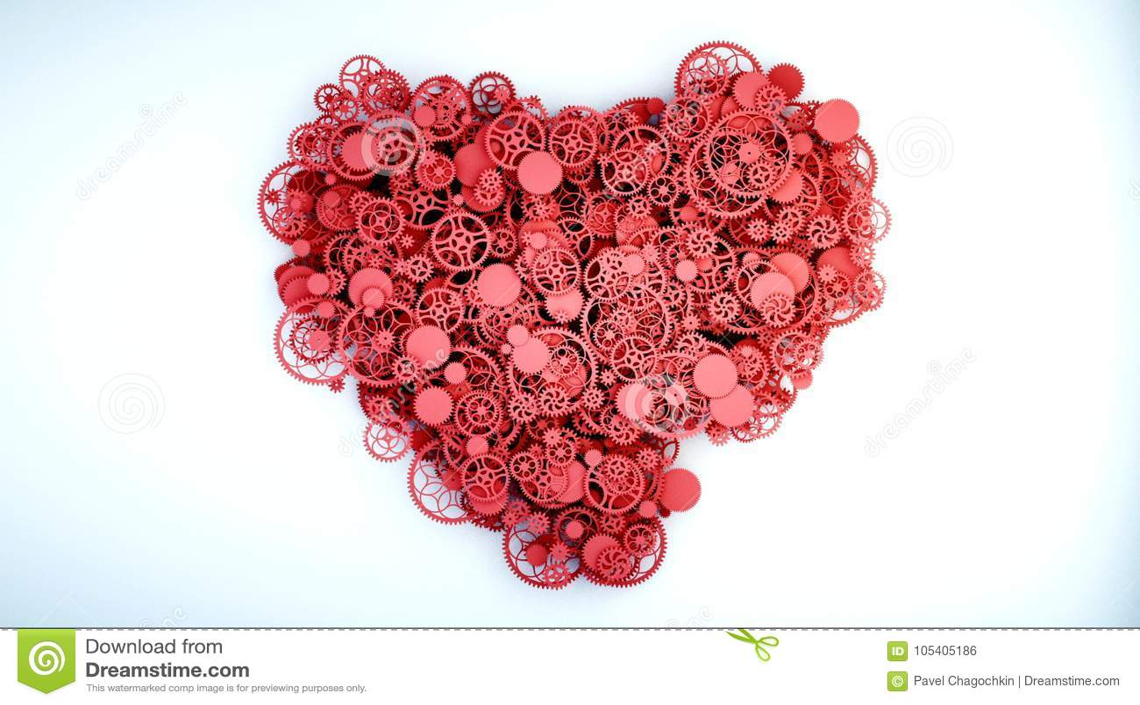 Download Η υγιής καρδιά από τα εργαλεία Έννοια ανατομίας τρισδιάστατη απόδοση Απεικόνιση αποθεμάτων - εικονογραφία από νοημοσύνη, εξοπλισμός: 105405186
