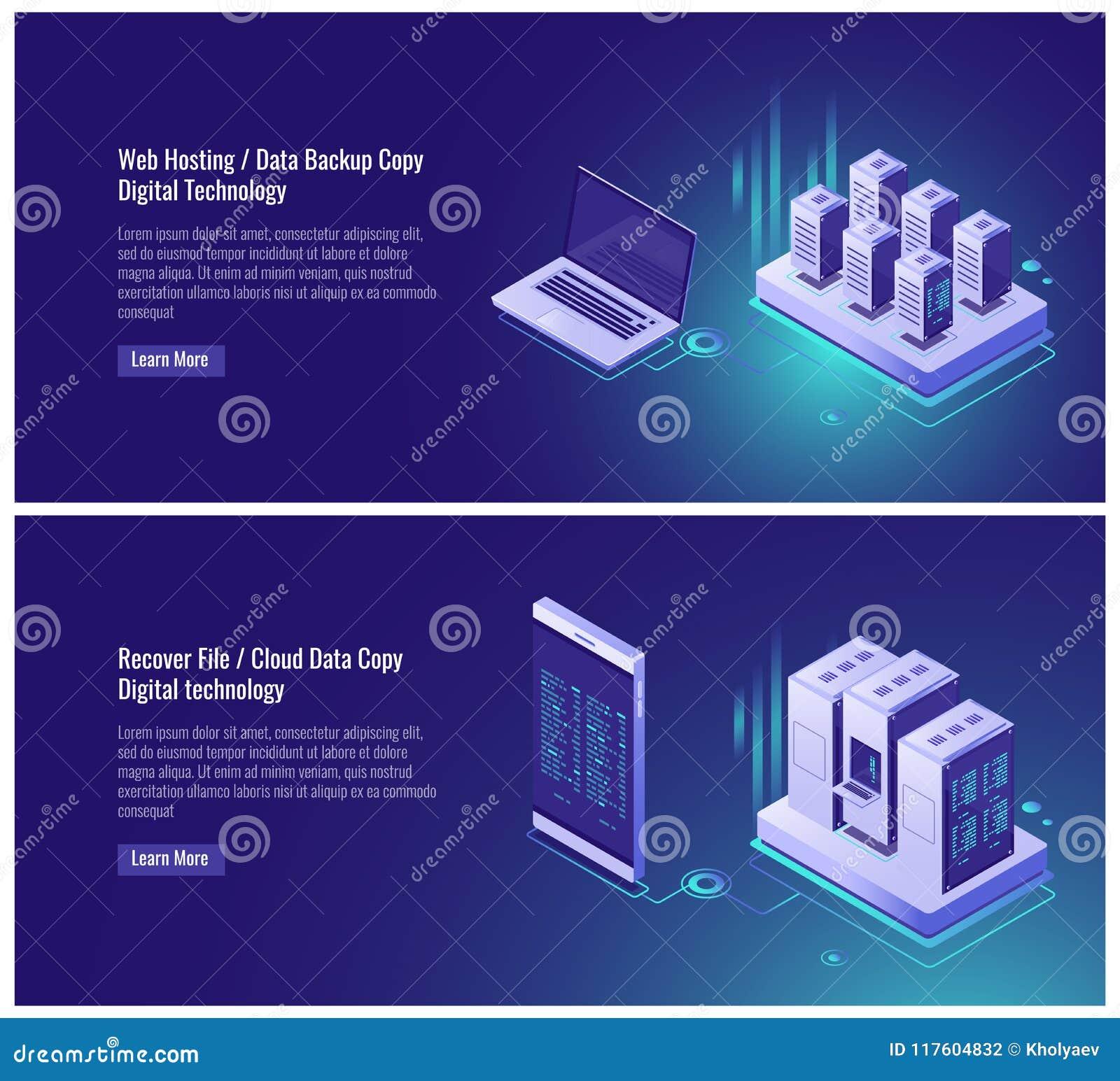 Η φιλοξενία Ιστού, εφεδρικό αντίγραφο στοιχείων, ανακτεί την έννοια αρχείων, αποθήκευση στοιχείων σύννεφων, ψηφιακή τεχνολογία, b