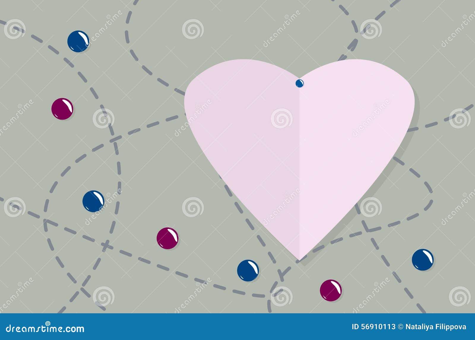 η όμορφη κάρτα δεσμών ανθίζει την καρδιά κοριτσιών