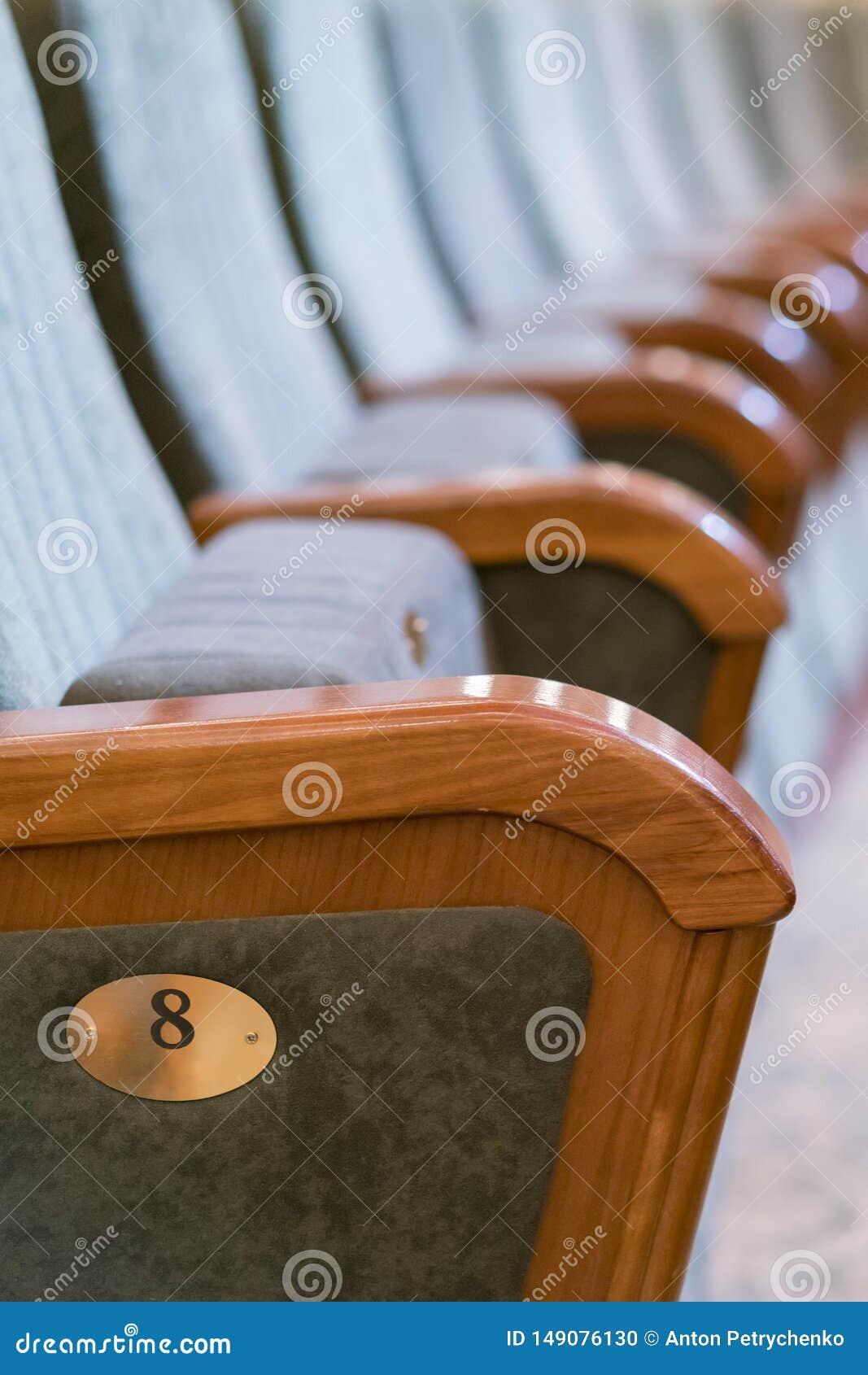 Θέατρο πολυθρόνων Κλασσικά καθίσματα θεάτρων βαθιά r