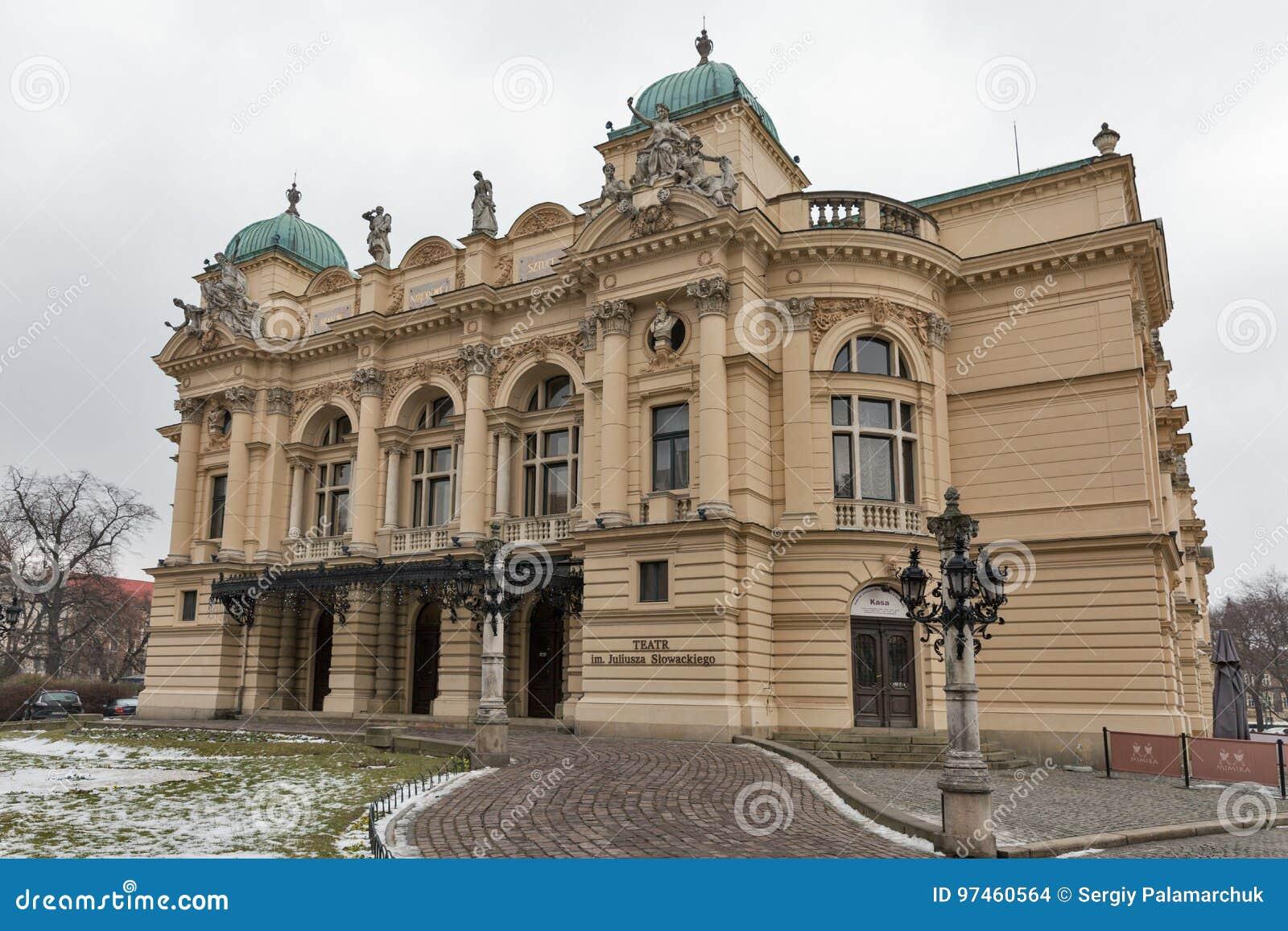 Θέατρο Slowacki Juliusz στην παλαιά πόλη της Κρακοβίας, Πολωνία