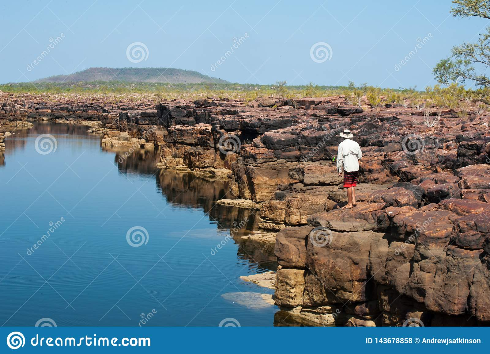 Θέλγητρο που αλιεύει σε ένα φαράγγι της Kimberley