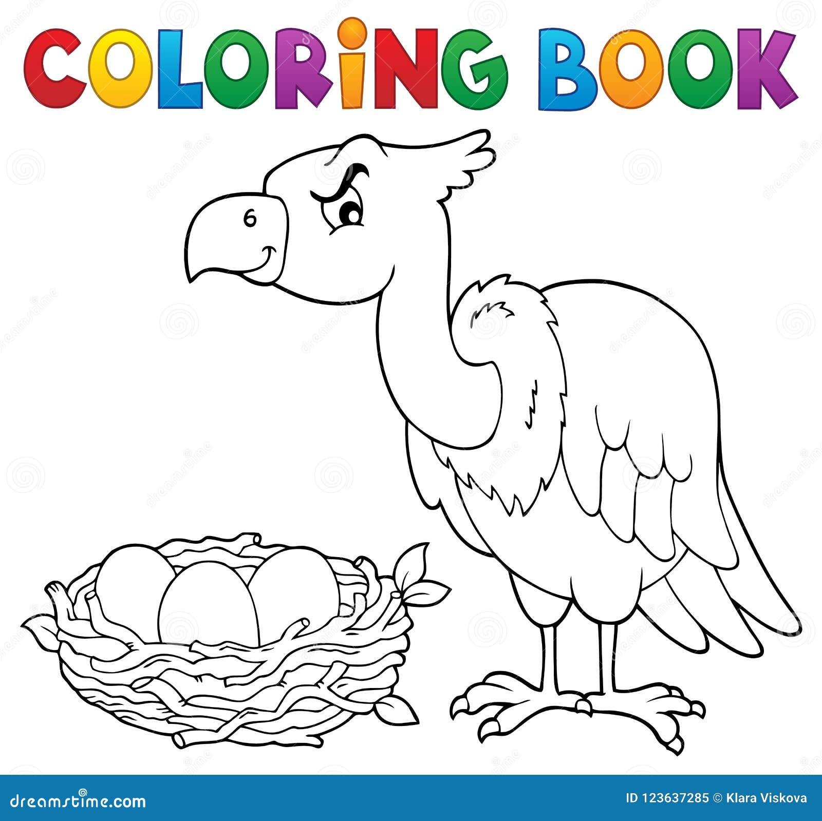 Θέμα 2 πουλιών βιβλίων χρωματισμού