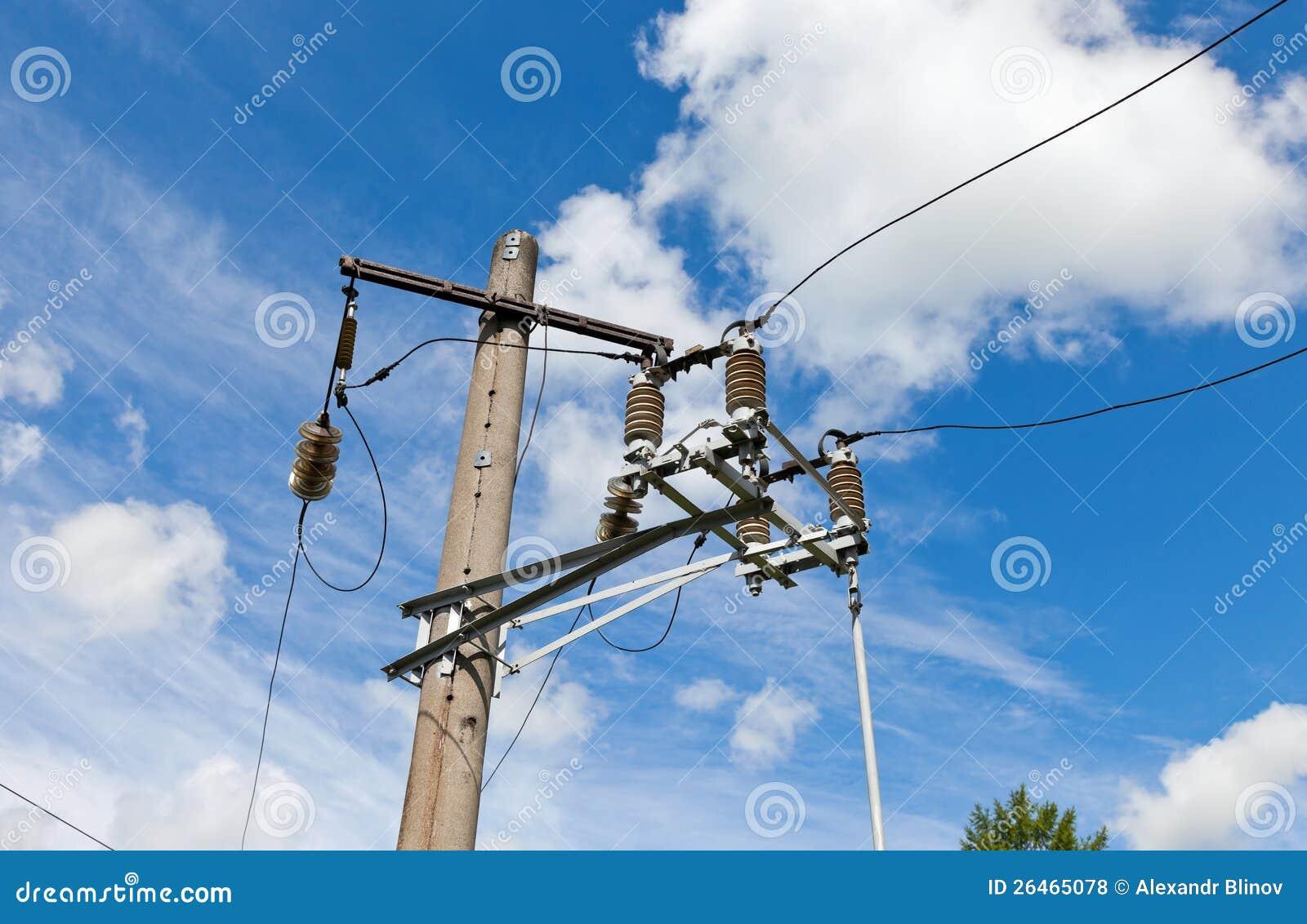 Θέση ηλεκτρικής δύναμης με το καλώδιο
