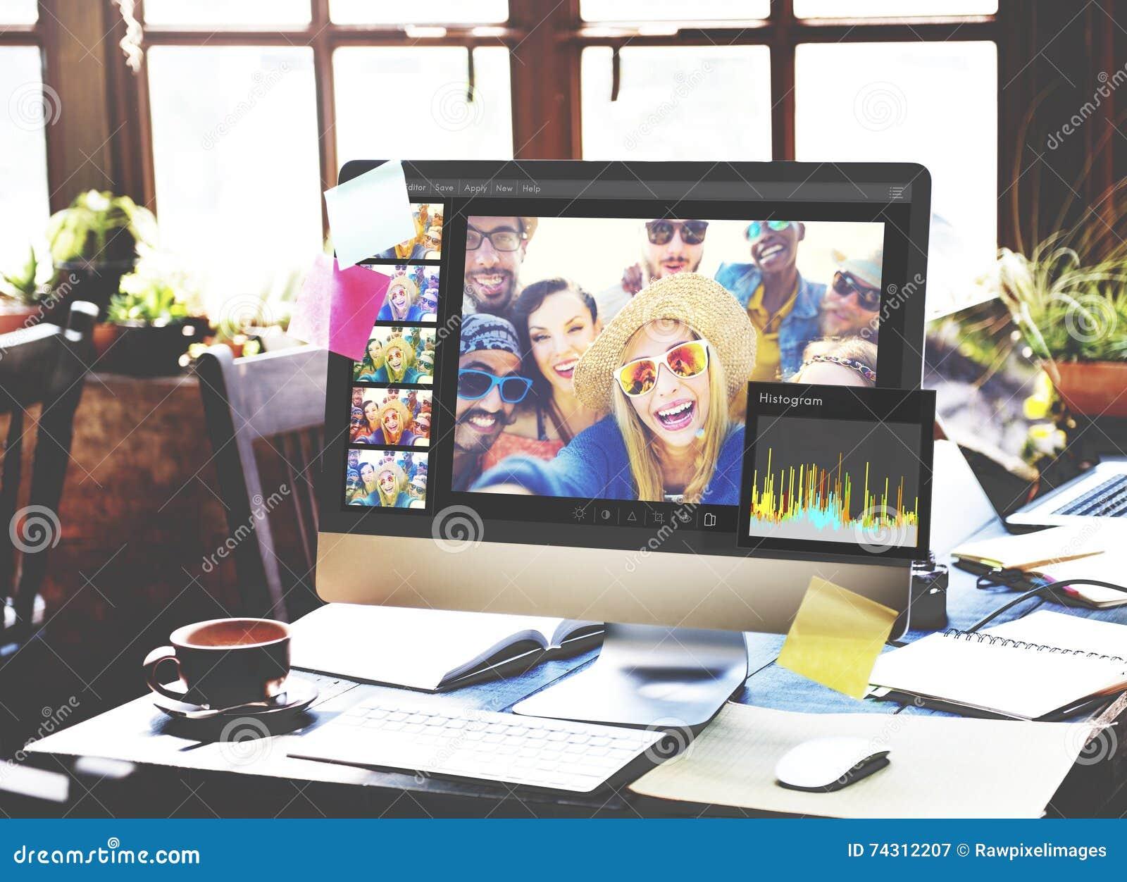 Θέτοντας έννοια ιστογράμμων συντακτών φωτογραφιών