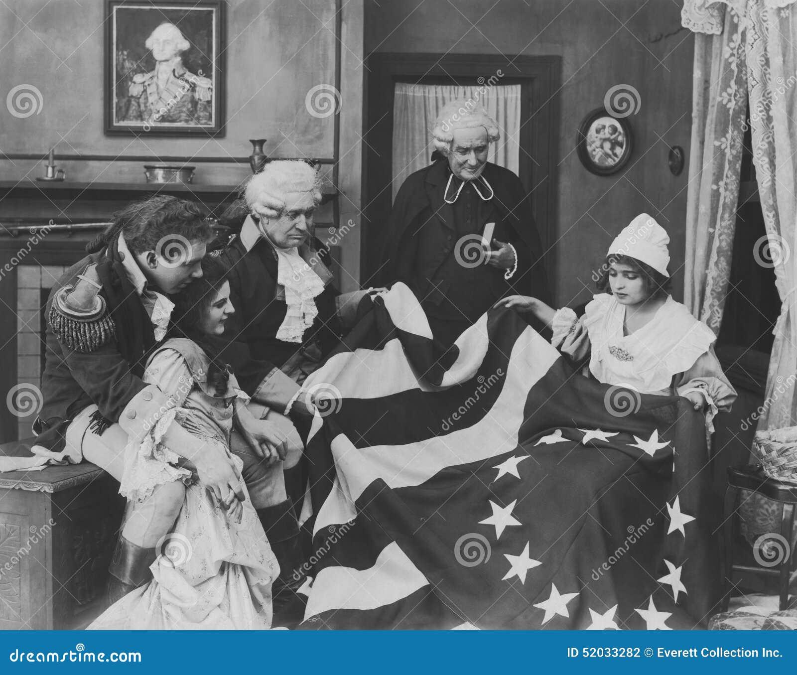 Θαυμασμός της σημαίας Betsy Ross