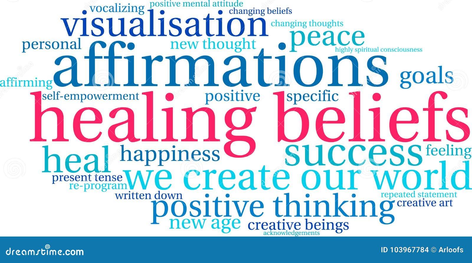 Θεραπεύοντας σύννεφο του Word πεποιθήσεων