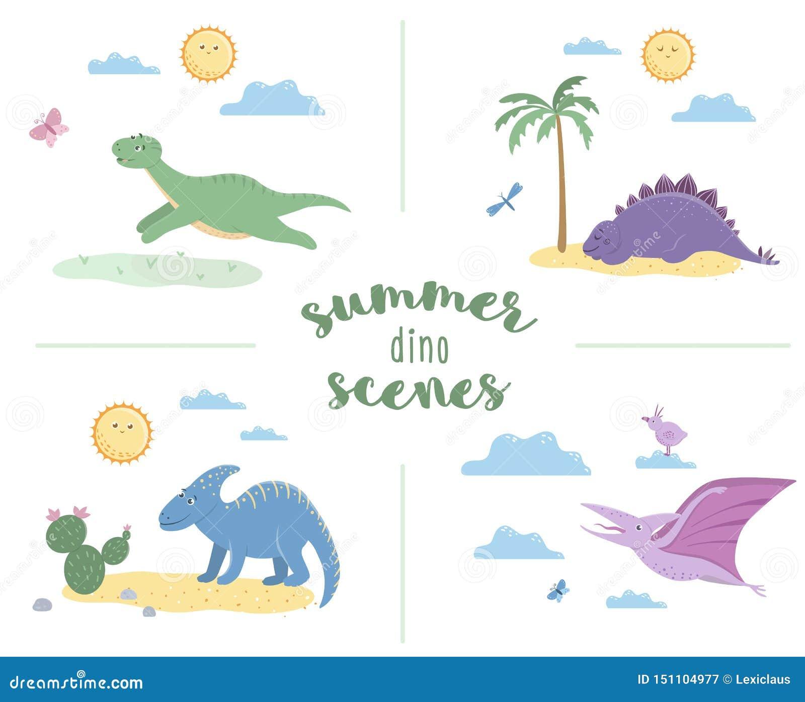 Θερινές σκηνές με τους χαριτωμένους δεινοσαύρους