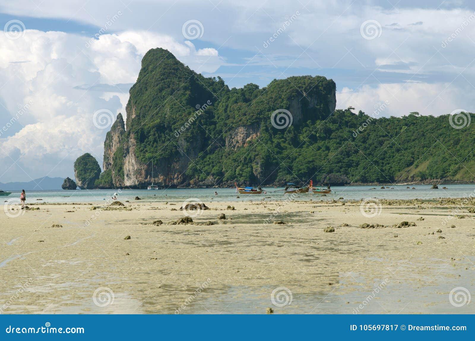 Θερινή παραλία στην Ταϊλάνδη