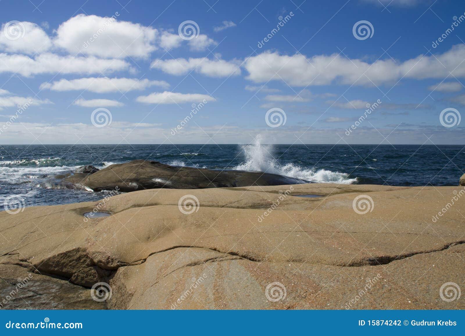 θερινή σουηδική δύση ακτών