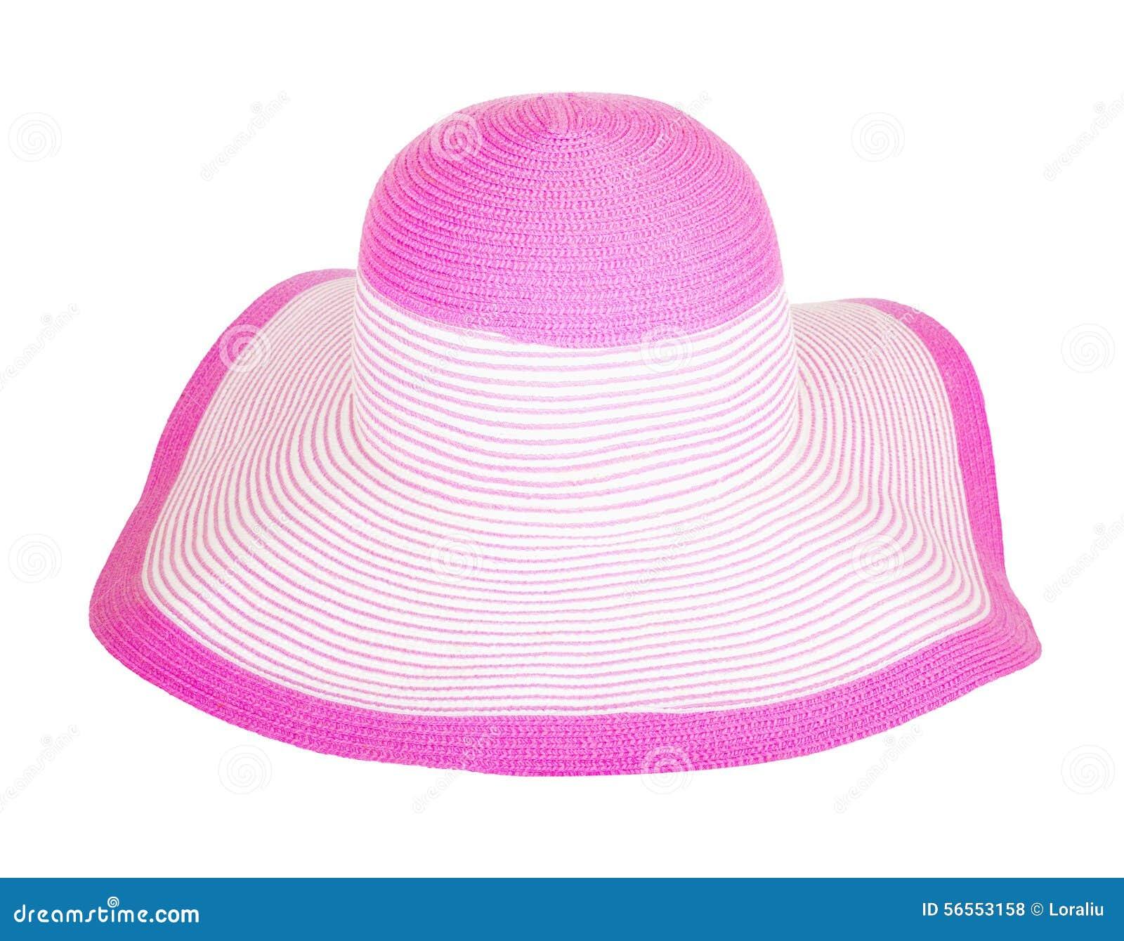 Download Θερινού αχύρου καπέλο που απομονώνεται ρόδινο Στοκ Εικόνες - εικόνα από ενδύματα, hatband: 56553158