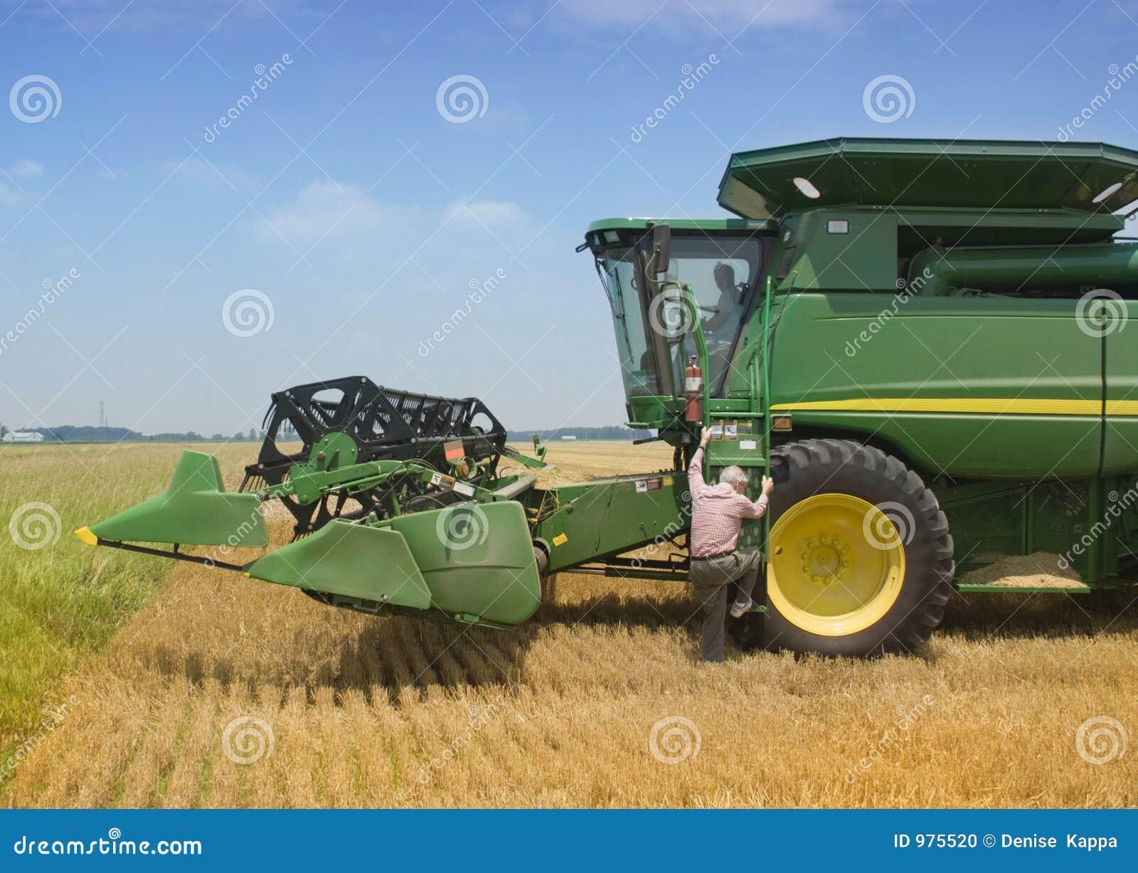 θεριστική μηχανή αγροτών ε&