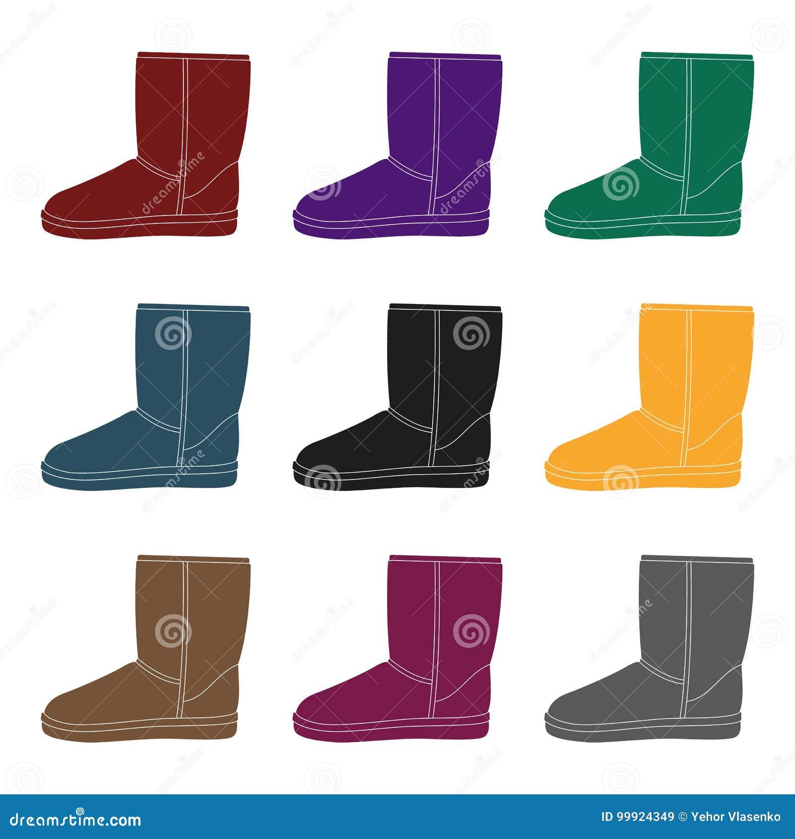 4f0de4db0e Θερμές μπότες χειμερινού μπλε ugg Άνετα χειμερινά παπούτσια για την  καθημερινή ένδυση Διαφορετικό ενιαίο εικονίδιο παπουτσιών στη μαύρη  απεικόνιση Ιστού ...