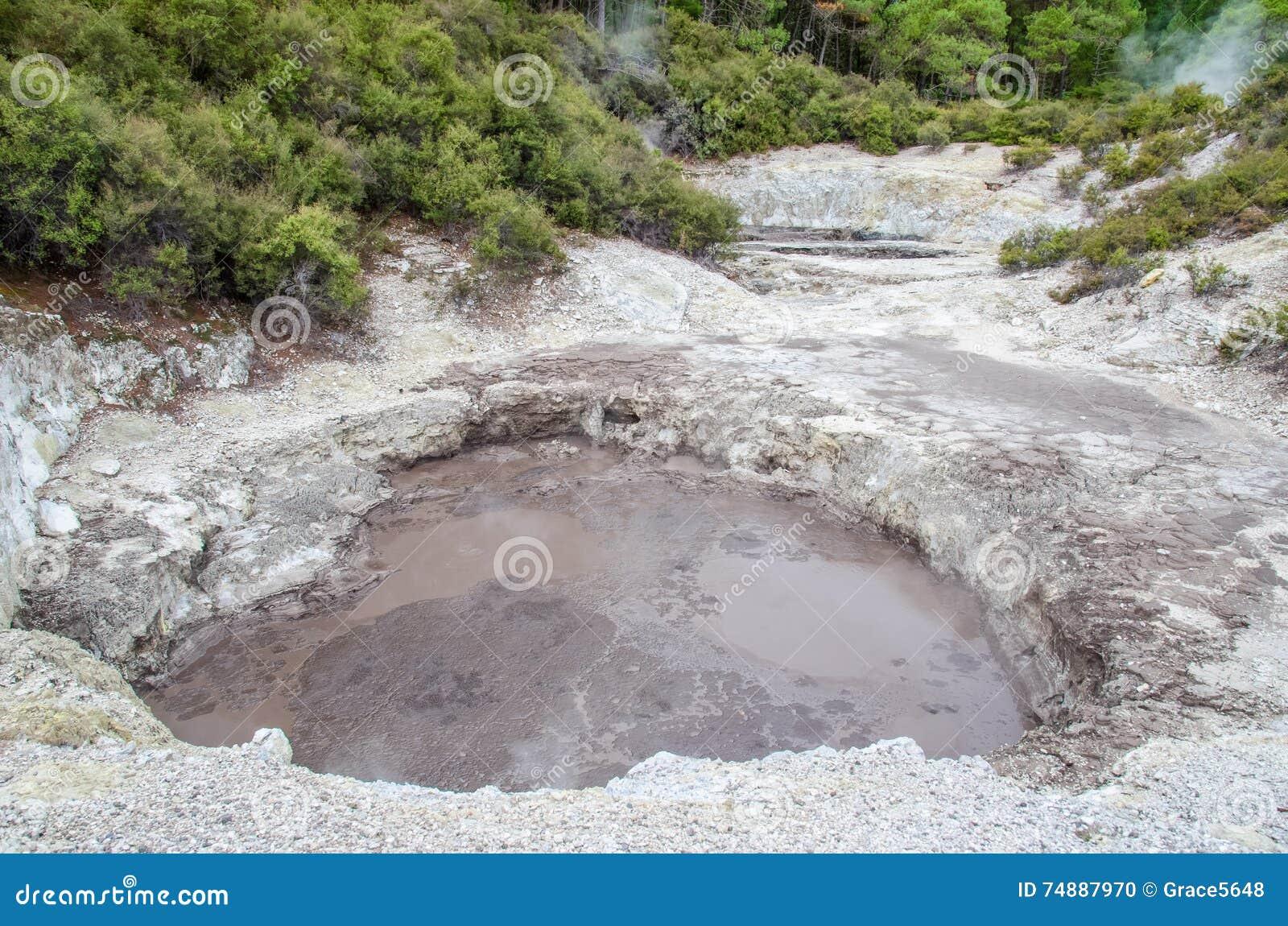 Θερμική χώρα των θαυμάτων wai-ο-Tapu που βρίσκεται σε Rotorua, Νέα Ζηλανδία
