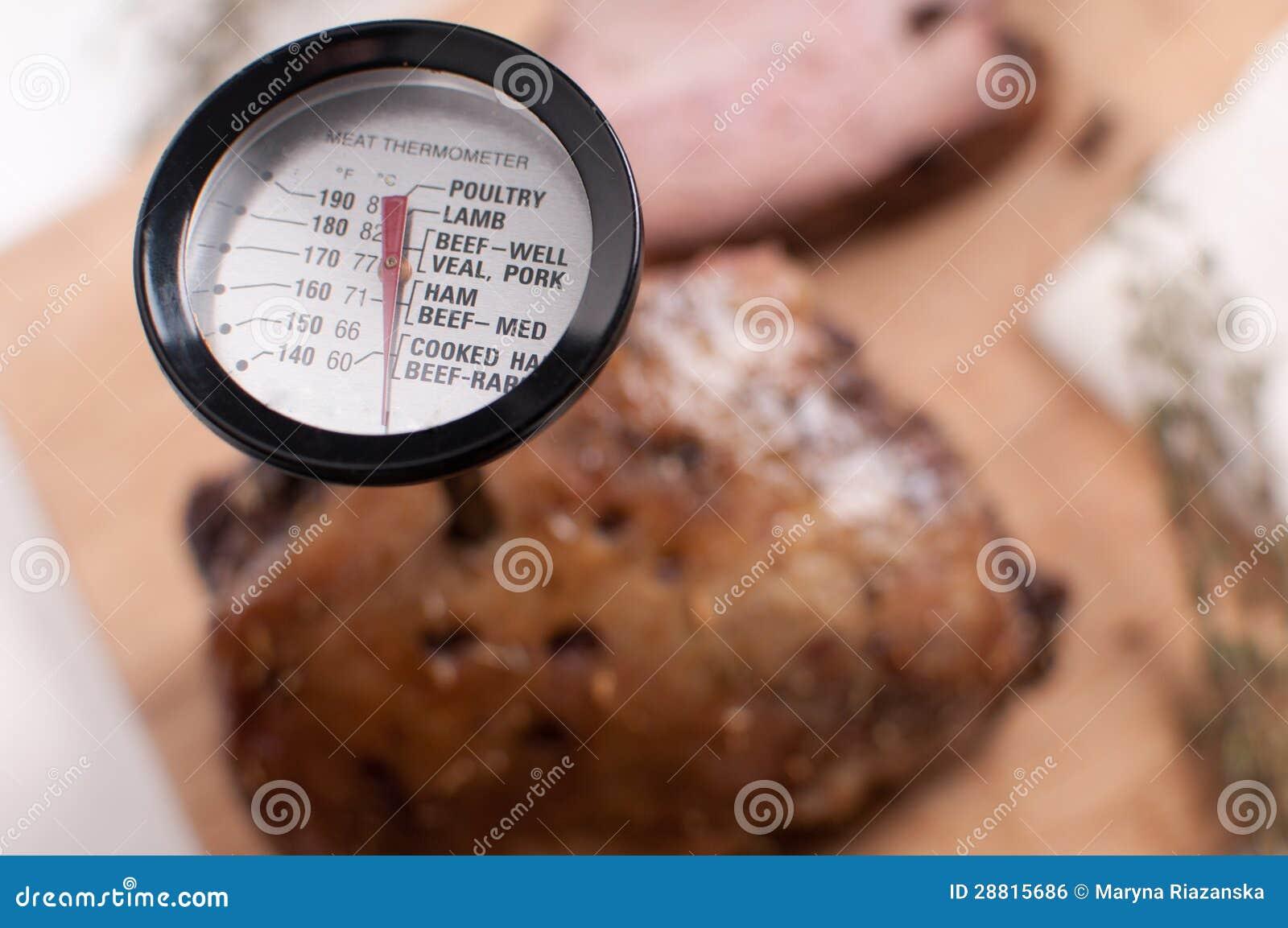 Θερμόμετρο κρέατος στο κρέας