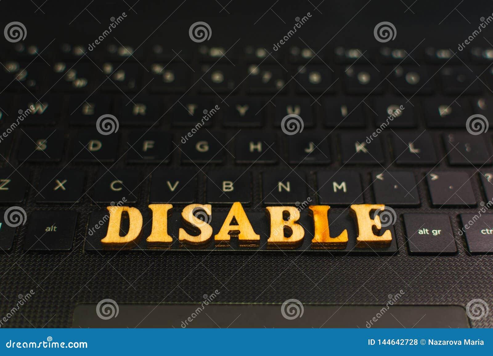 ΘΕΣΤΕ ΕΚΤΌΣ ΛΕΙΤΟΥΡΓΊΑΣ τις επιστολές στο πληκτρολόγιο του lap-top