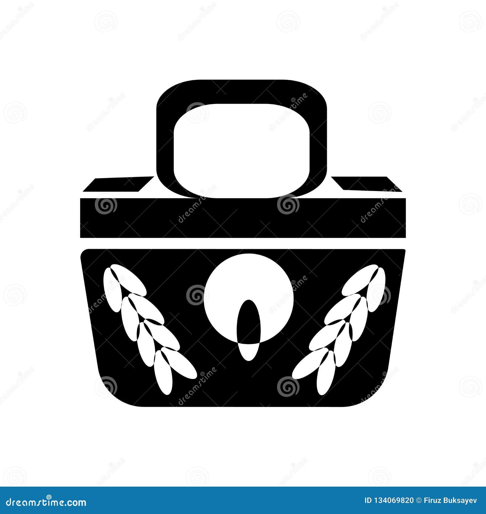 Θηλυκά μαύρα σημάδι και σύμβολο εικονιδίων τσαντών διανυσματικά που απομονώνονται στο άσπρο υπόβαθρο, θηλυκή μαύρη έννοια λογότυπ