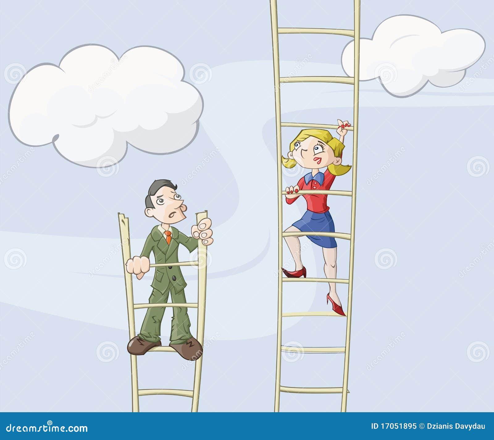 θηλυκή σκάλα σταδιοδρ&omicron