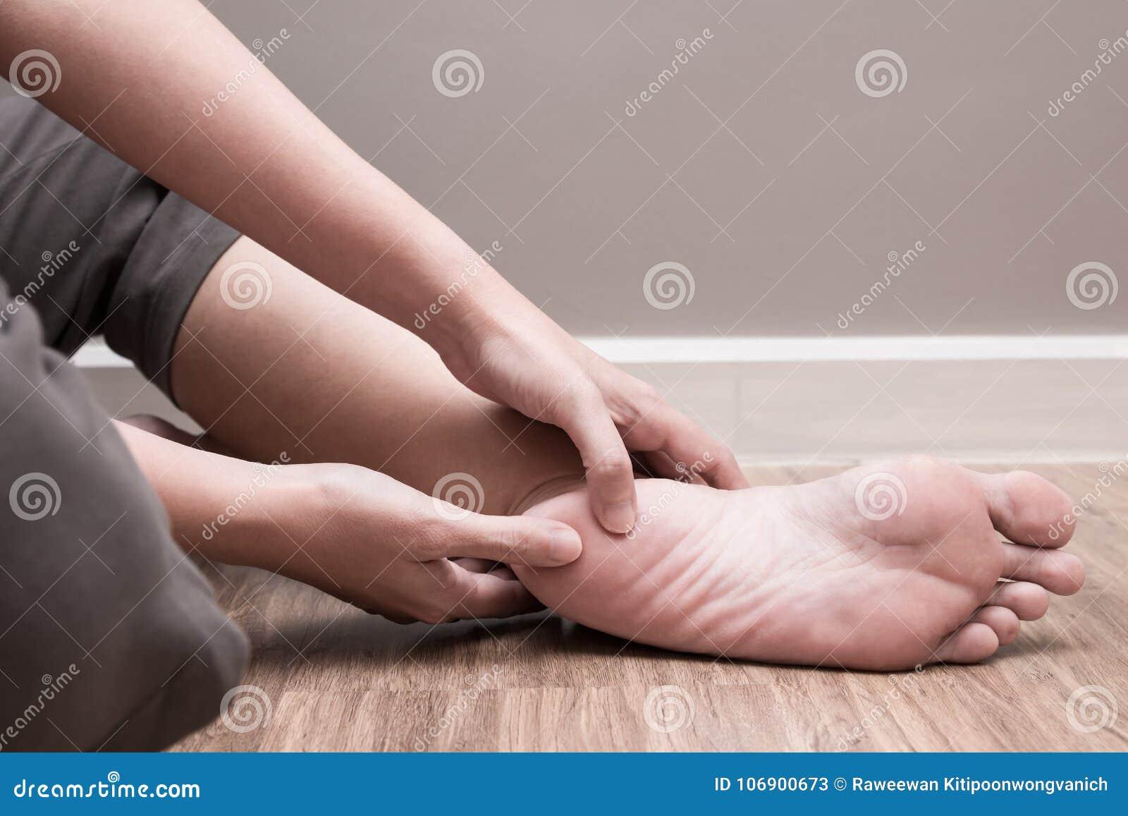 Θηλυκός πόνος τακουνιών ποδιών, πελματική αναταραχή fasciitis
