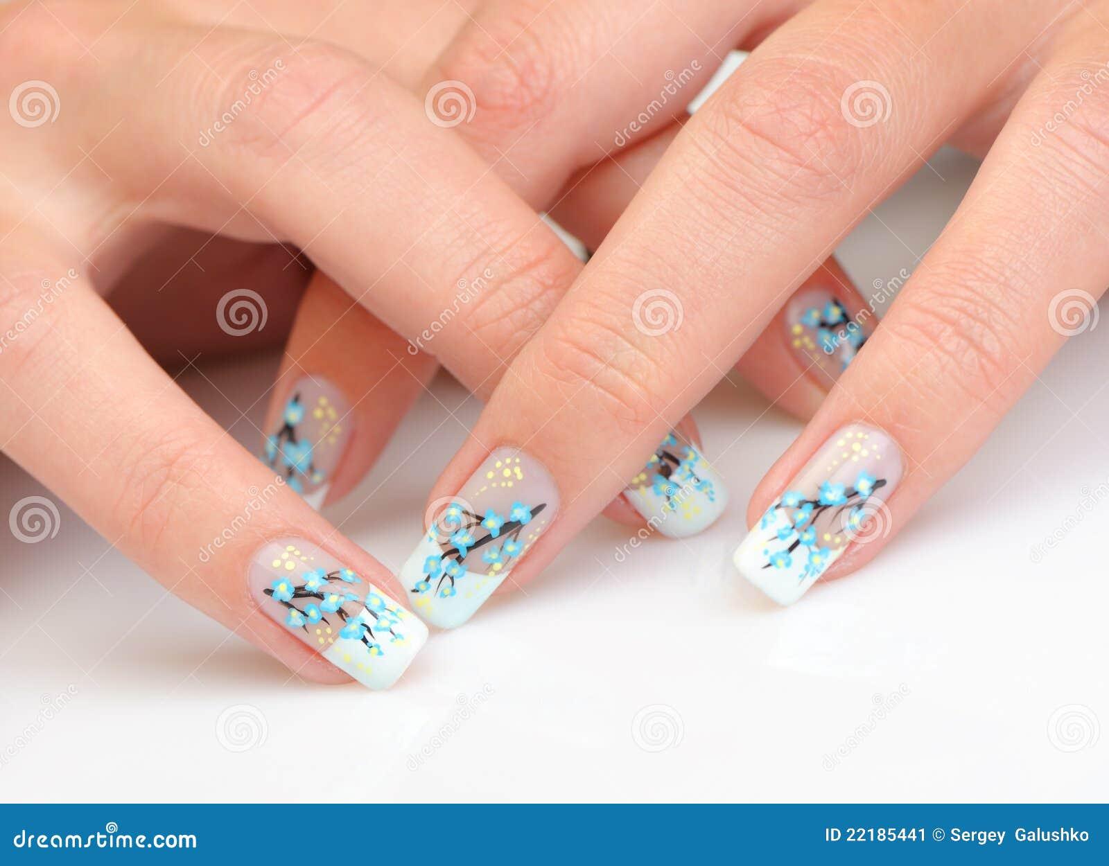 θηλυκό μανικιούρ χεριών
