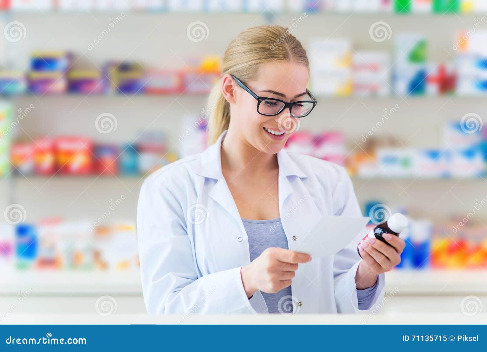 Θηλυκός φαρμακοποιός