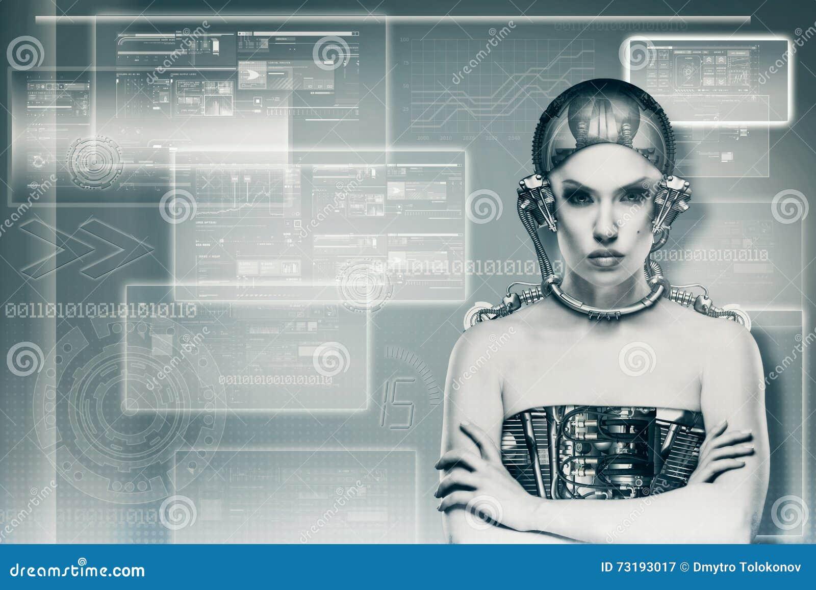 Θηλυκό πορτρέτο Techno