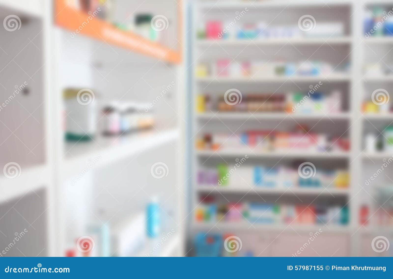 Θολώστε μερικά ράφια του φαρμάκου στο φαρμακείο