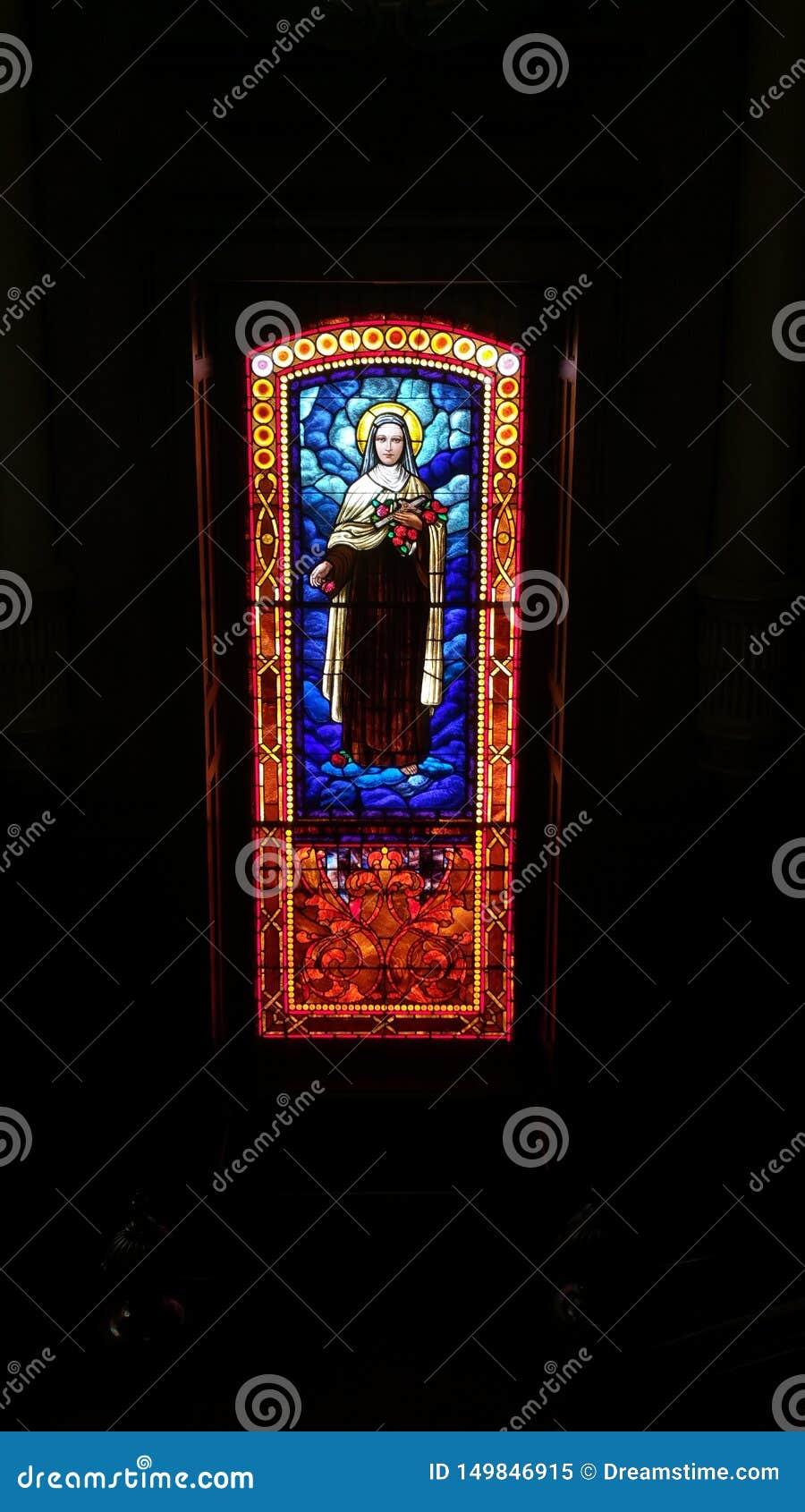 Θρησκευτικό λεκιασμένο γυαλί