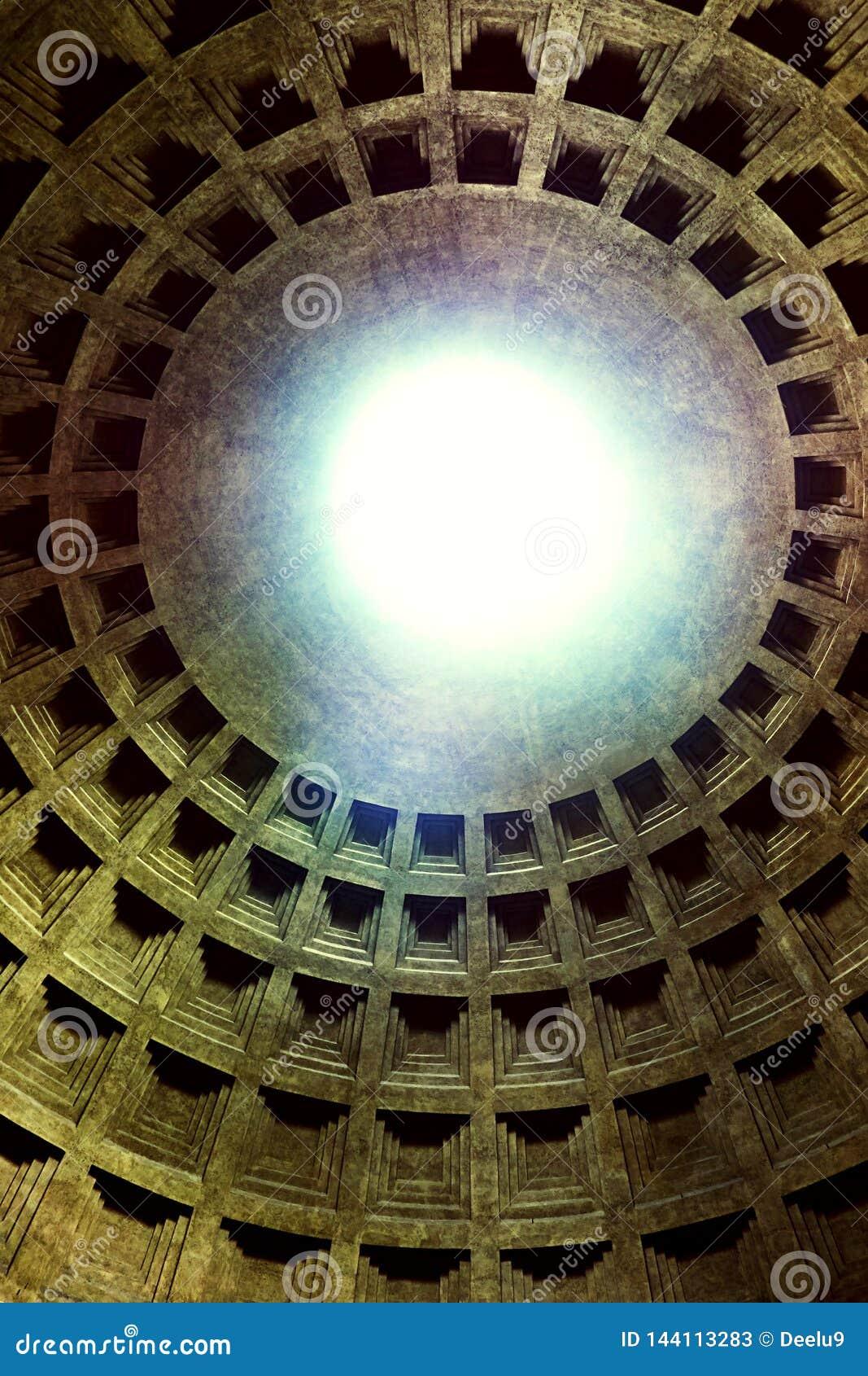 Θόλος του αρχαίου ρωμαϊκού ναού όλων των Θεών - pantheon