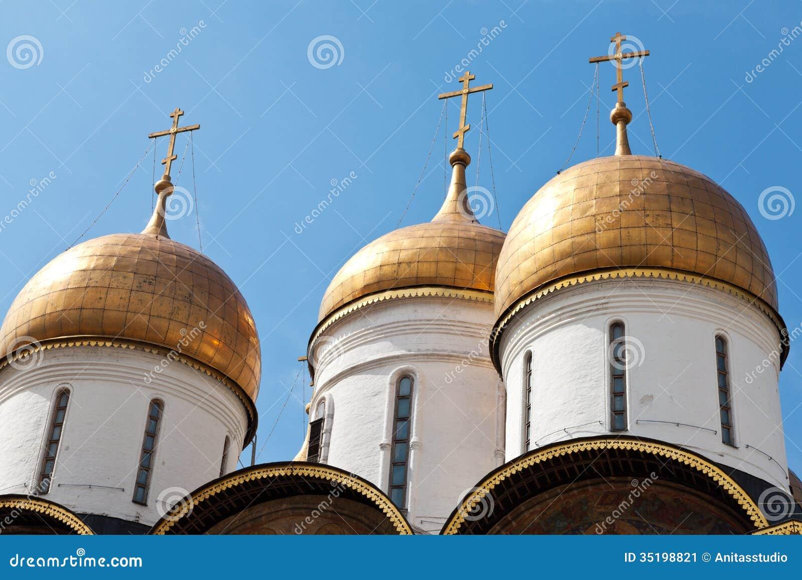 Θόλοι κρεμμυδιών του καθεδρικού ναού της υπόθεσης, Μόσχα Κρεμλίνο