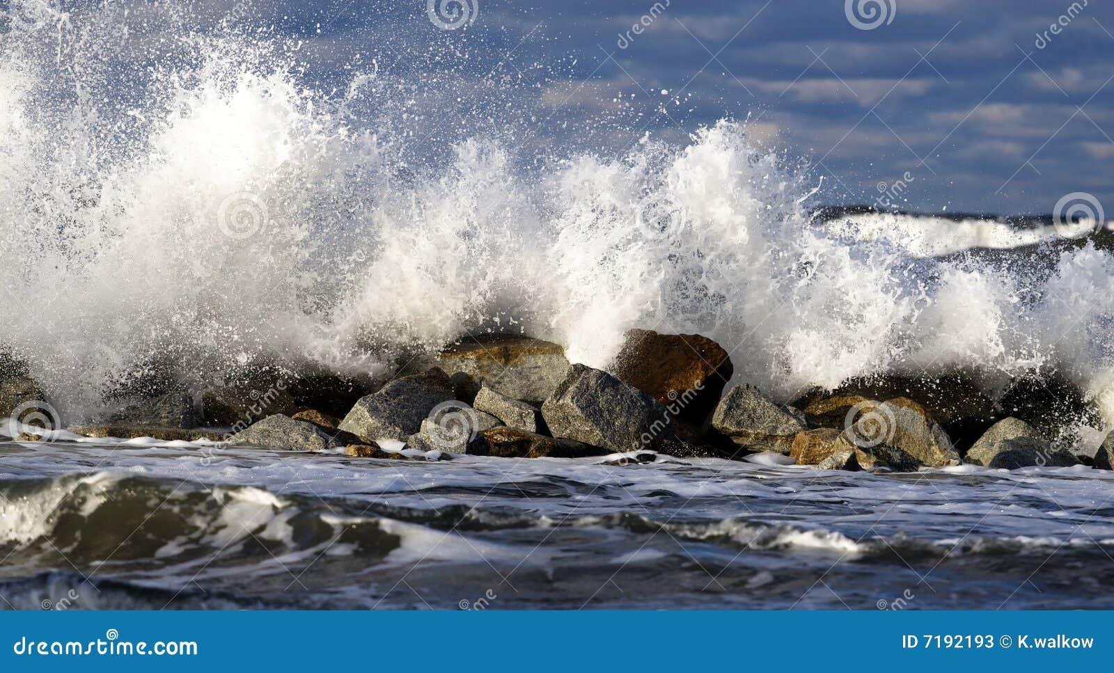θύελλα της θάλασσας της Βαλτικής