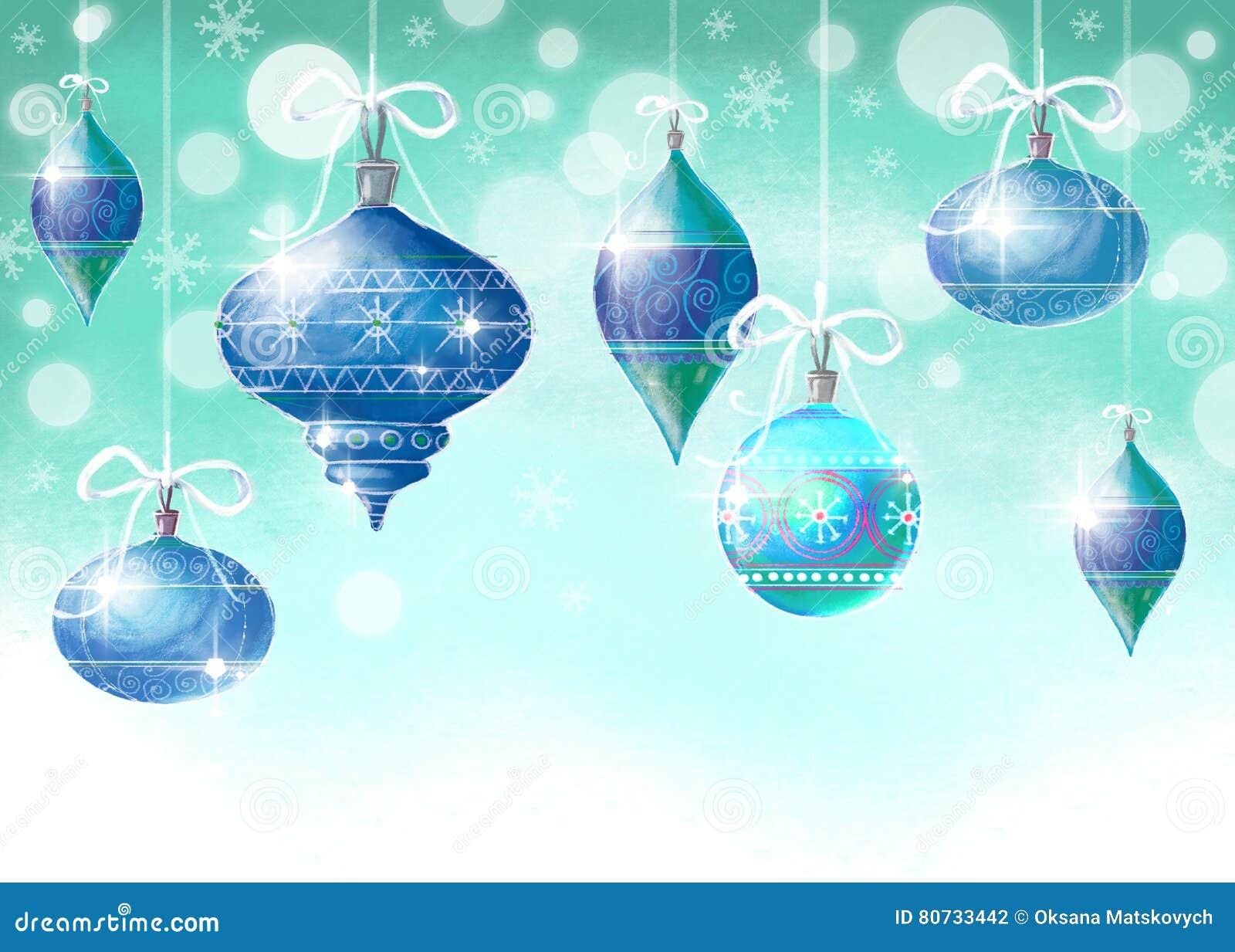 διάνυσμα απεικόνισης Χριστουγέννων eps10 σφαιρών ανασκόπησης