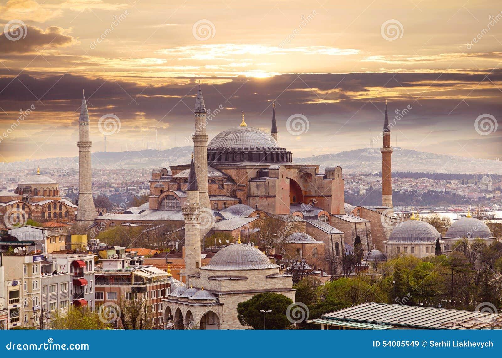 διάσημο sophia της Κωνσταντινούπολης hagia