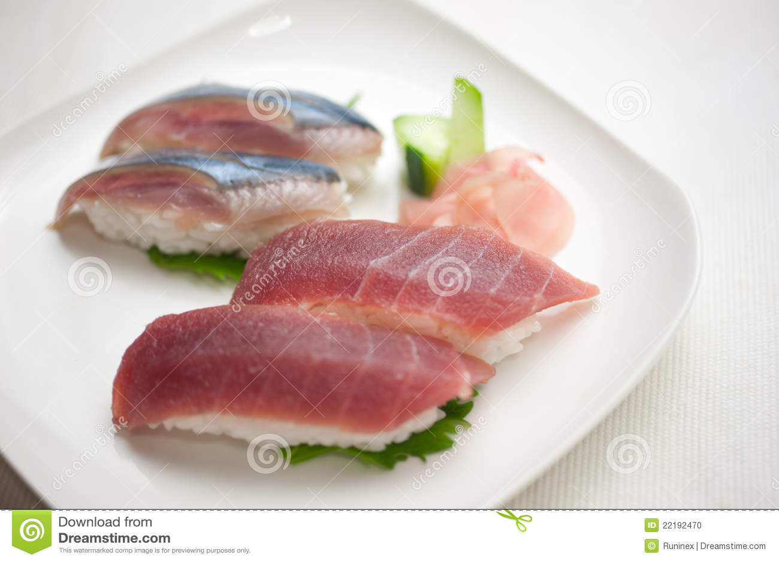 ιαπωνικά σούσια πιάτων