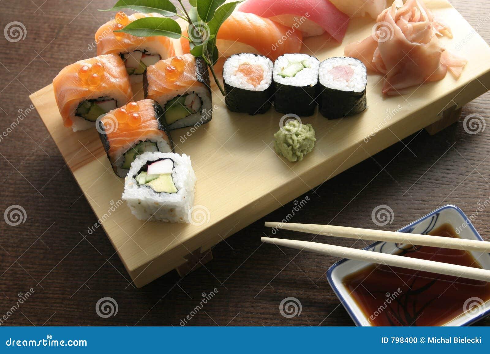 ιαπωνικά σούσια τροφίμων παραδοσιακά