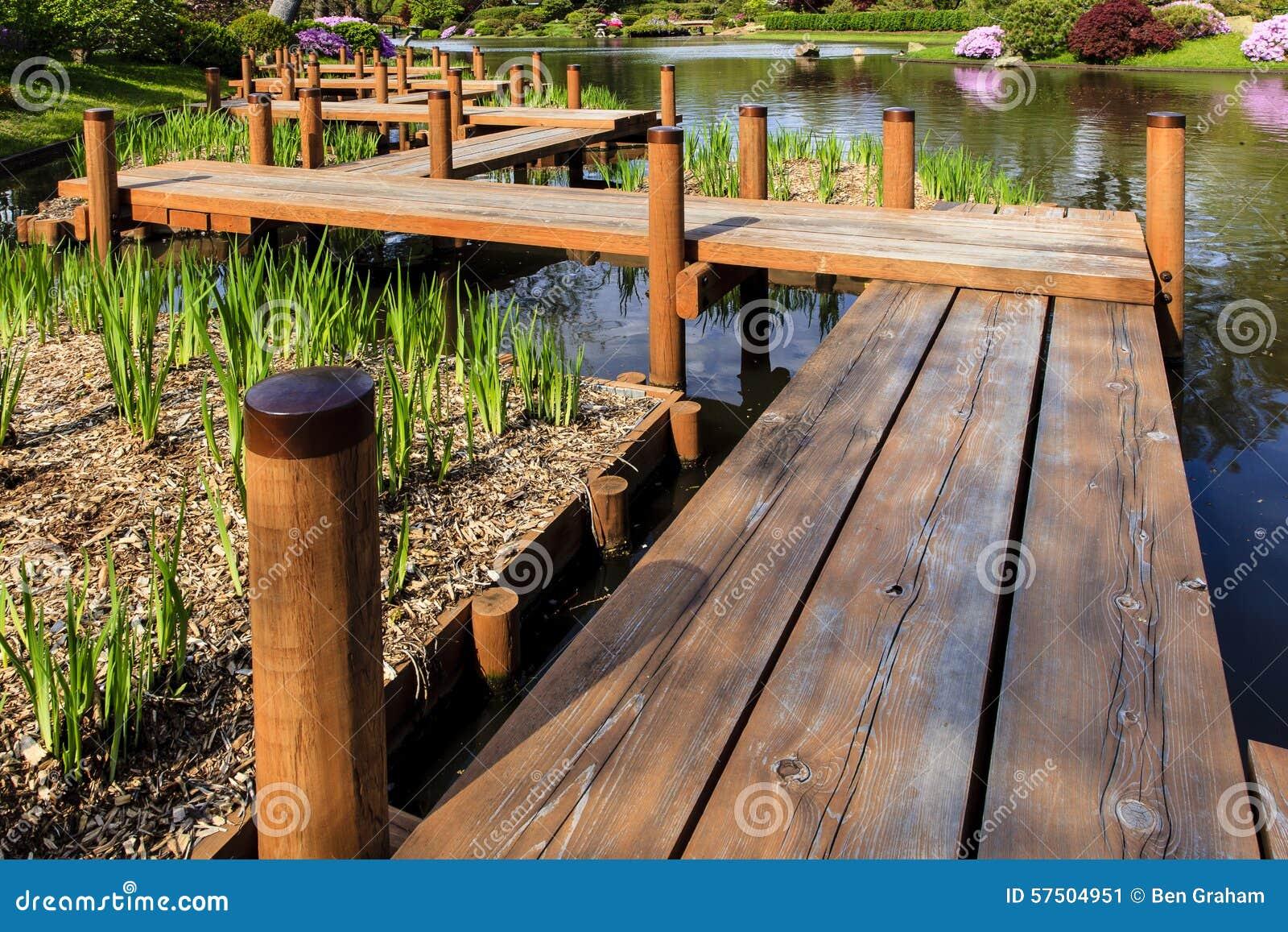 Ιαπωνική γέφυρα ποδιών κήπων
