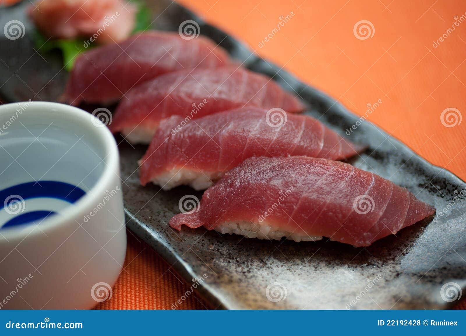 ιαπωνικός τόνος σουσιών χάρης κουζίνας