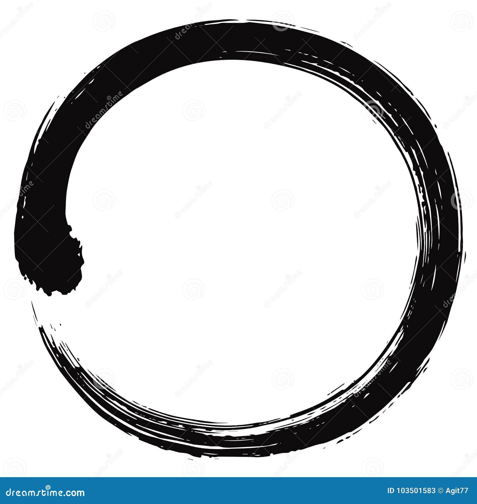 Ιαπωνικό διάνυσμα βουρτσών κύκλων Enso Zen