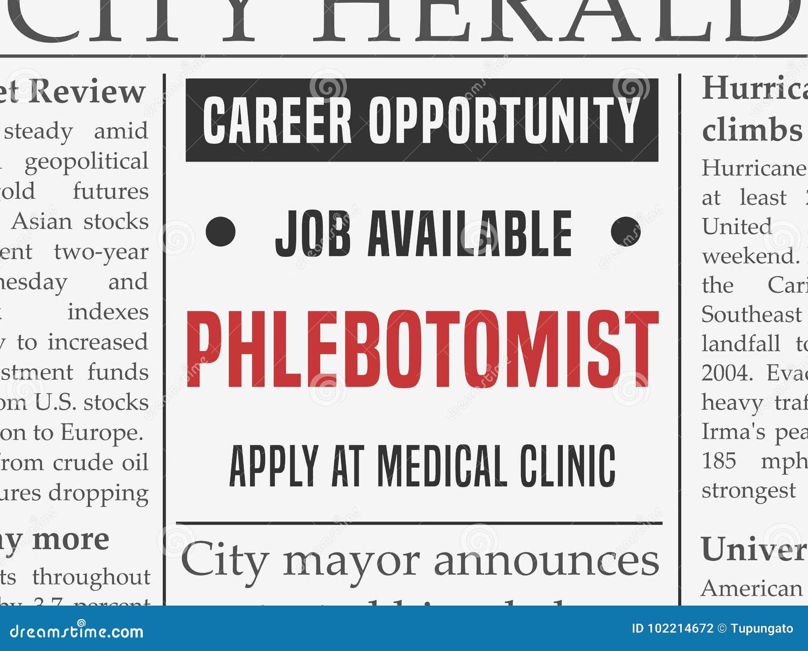 Ιατρική σταδιοδρομία Phlebotomist
