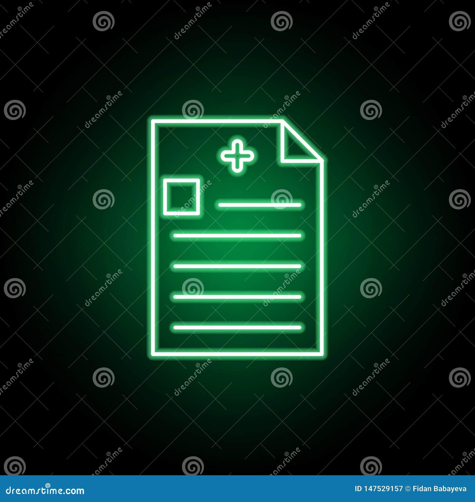 Ιατρικό, εικονίδιο εκθέσεων στο ύφος νέου Στοιχείο της απεικόνισης ιατρικής Το εικονίδιο σημαδιών και συμβόλων μπορεί να χρησιμοπ