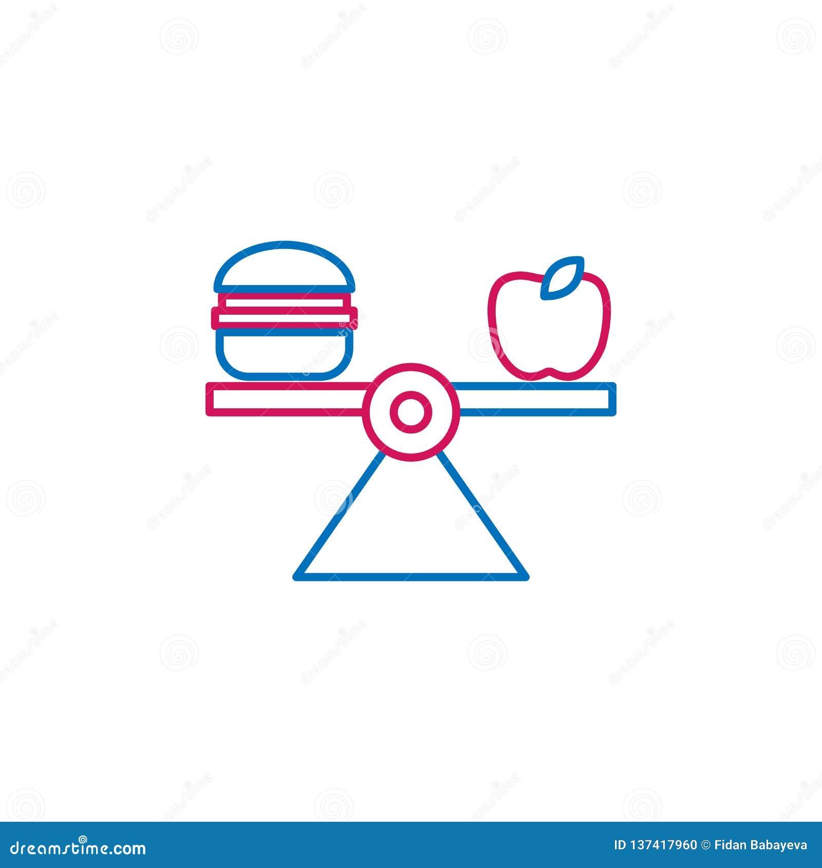 Ιατρικό, ισορροπημένο χρωματισμένο διατροφή εικονίδιο Στοιχείο της απεικόνισης ιατρικής Το εικονίδιο σημαδιών και συμβόλων μπορεί