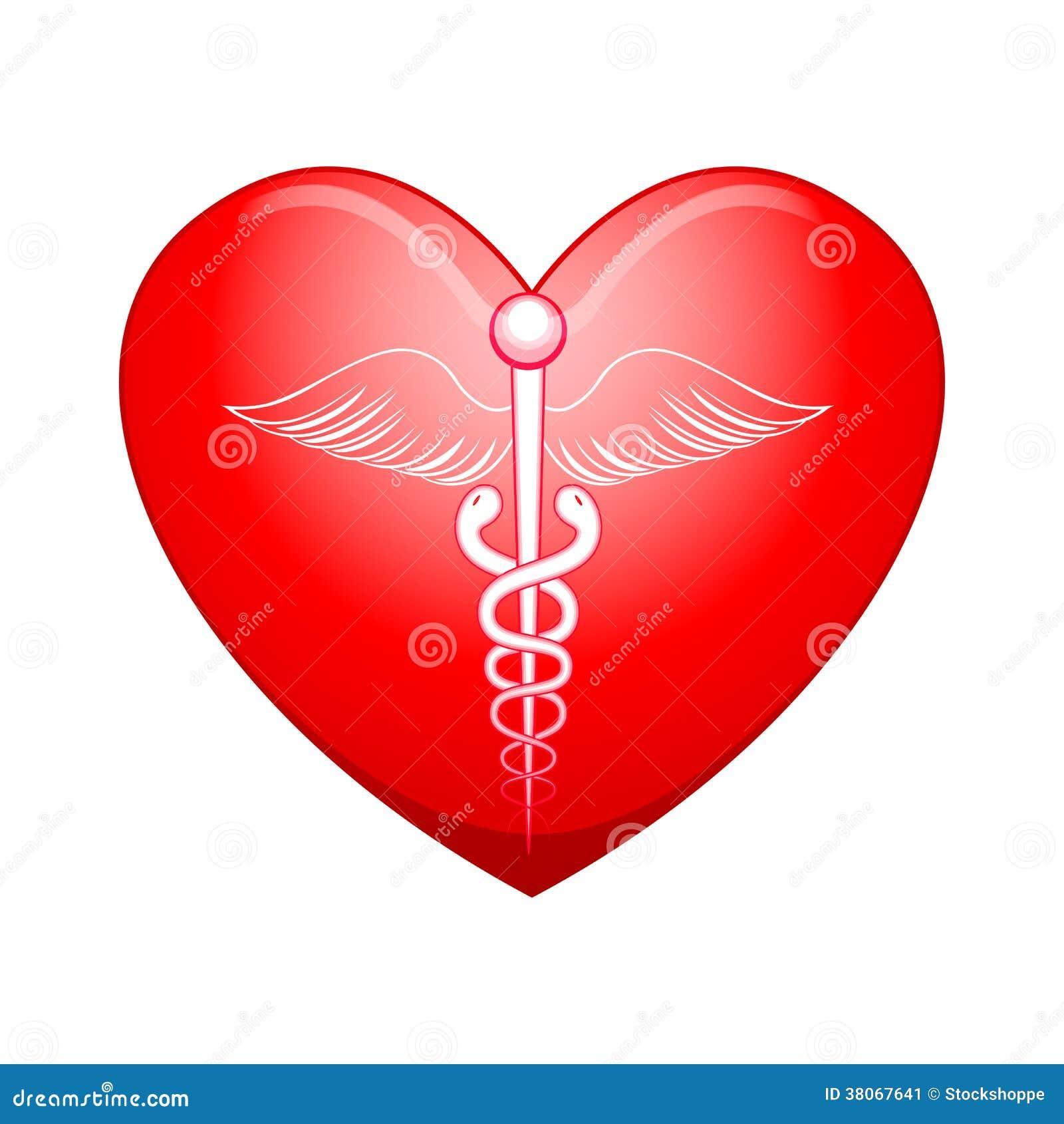 Ιατρικό σύμβολο στην καρδιά