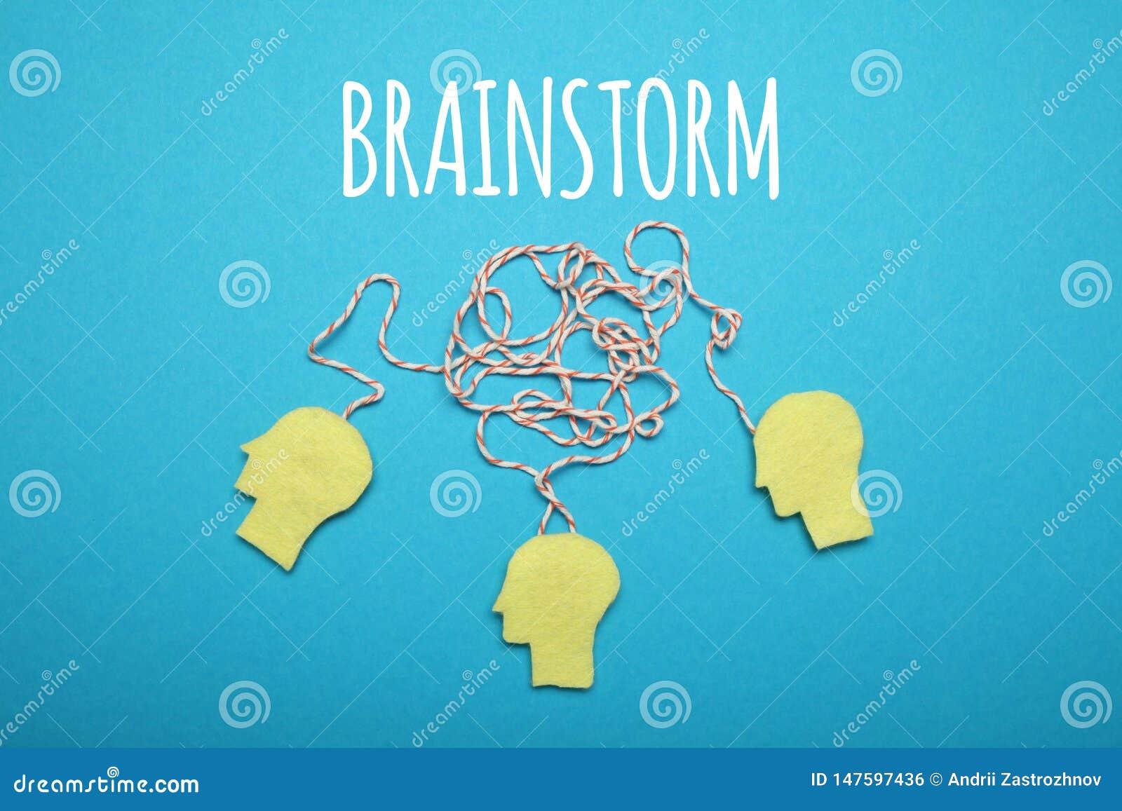 Ιδέα καταιγισμού ιδεών, μυαλό ομάδων Δημιουργική επιχειρησιακή εργασία