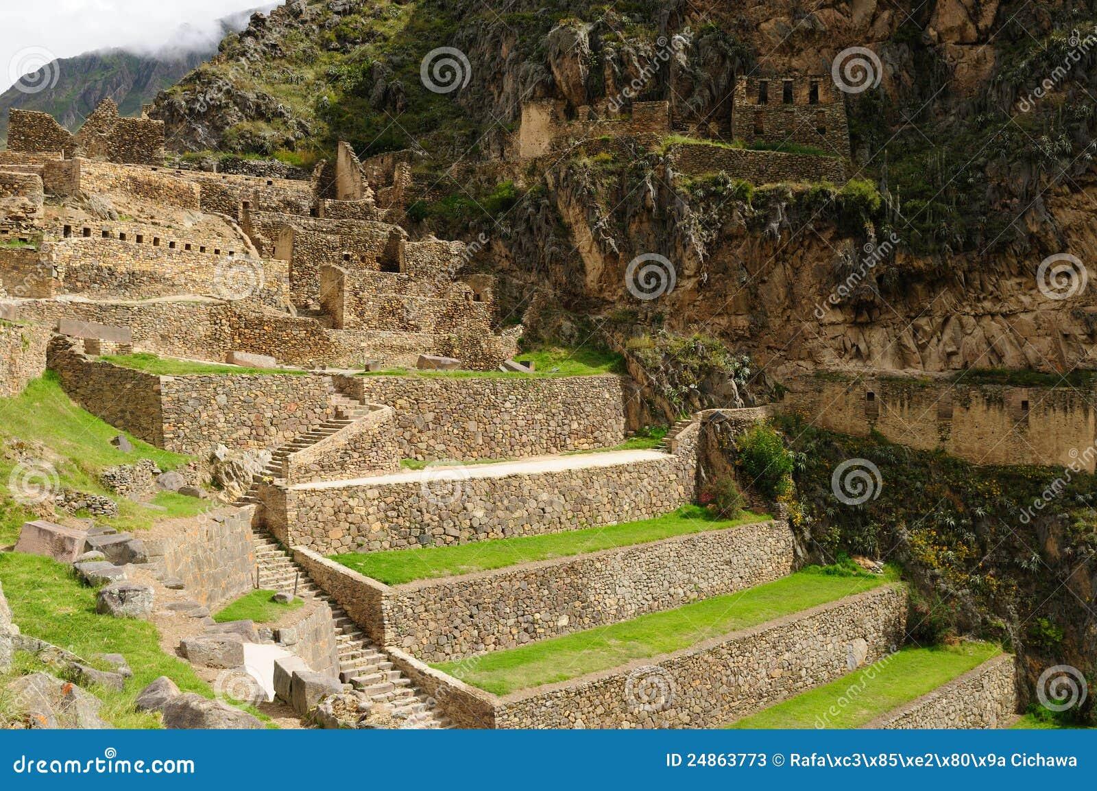 ιερή κοιλάδα του Περού ollantaytambo inca φρουρίων