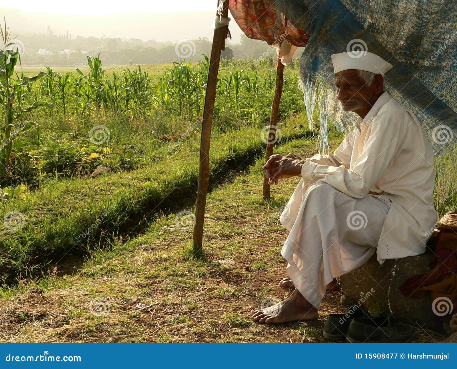 ινδικοί φτωχοί αγροτών